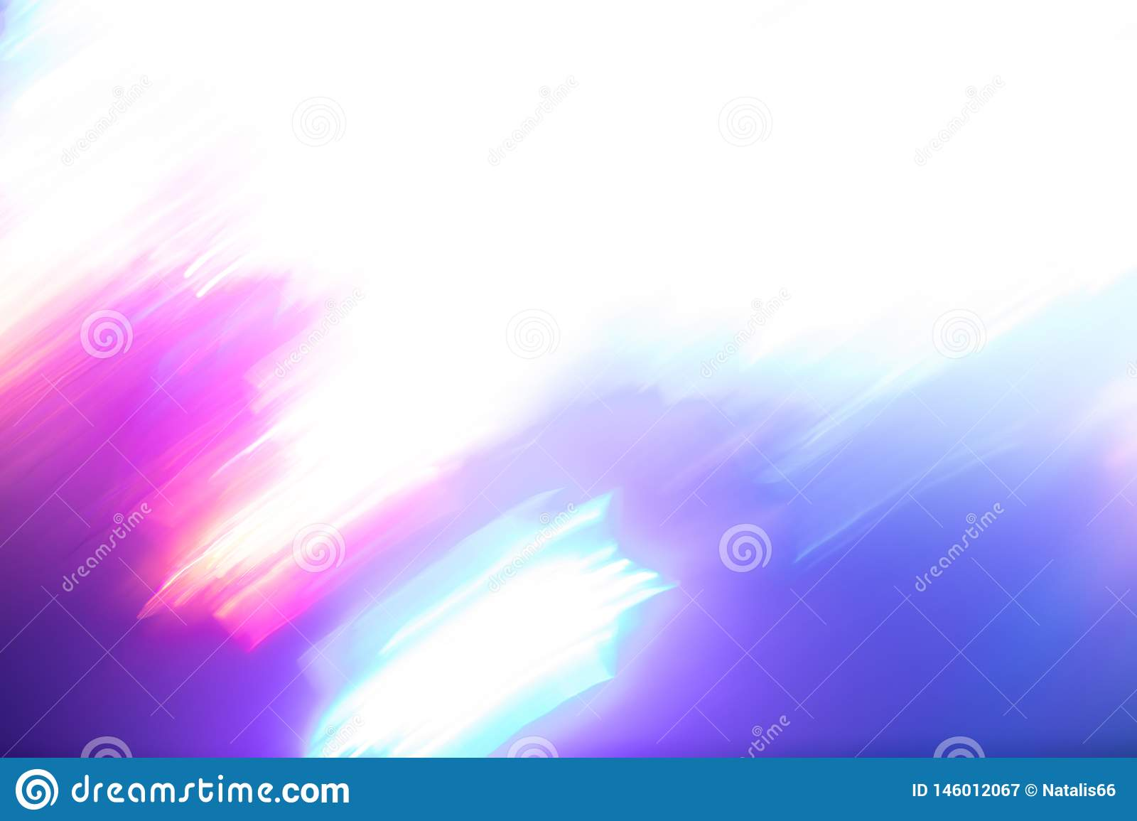 Blurred white-pink-purple-turquoise background of bright neon lights of trendy colors.
