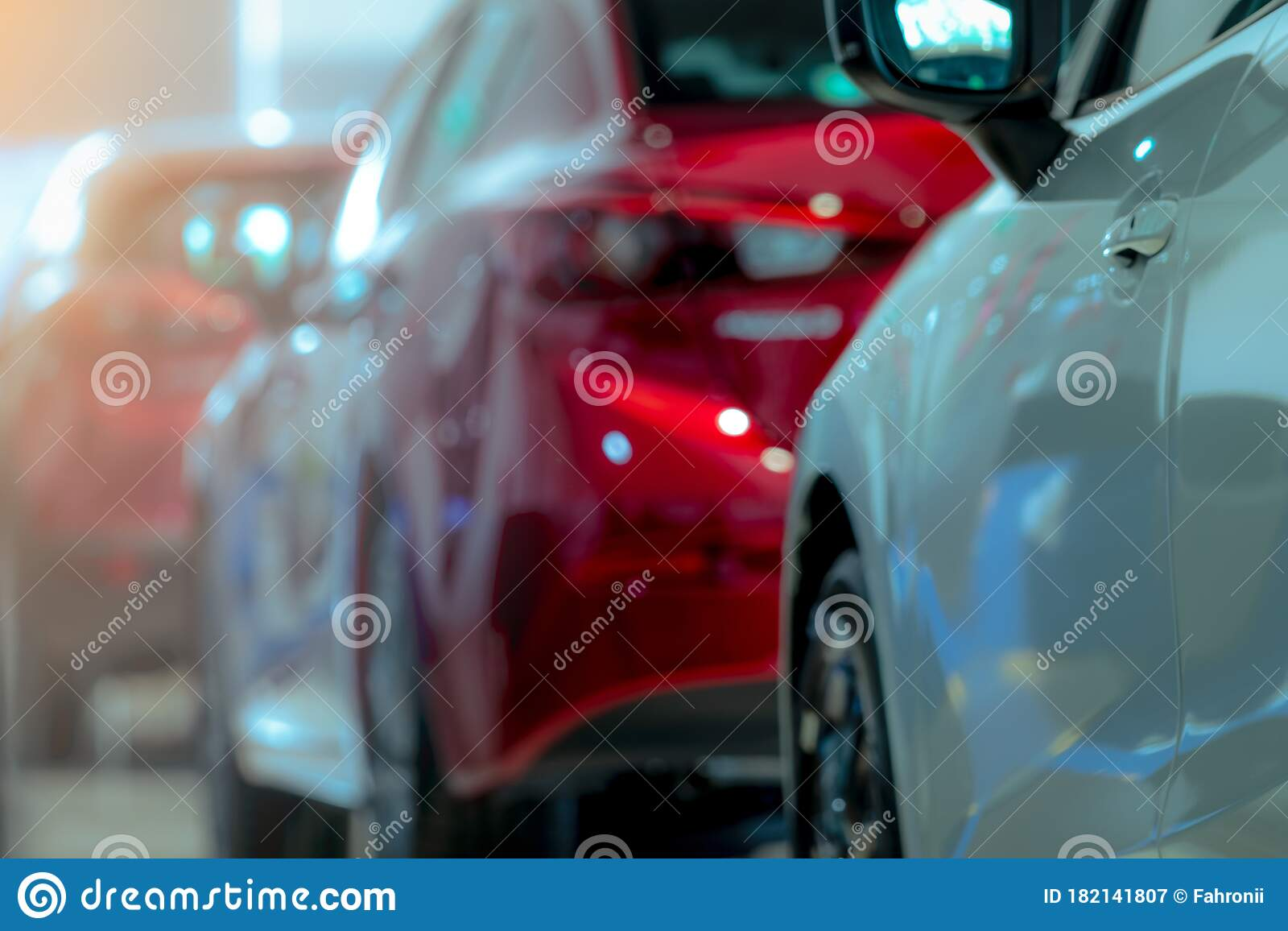 Blurred Of White And Red Luxury Car Parked In Modern Showroom Car Dealership Office Electric Car Business Concept Automobile Stock Image Image Of Rental Office 182141807