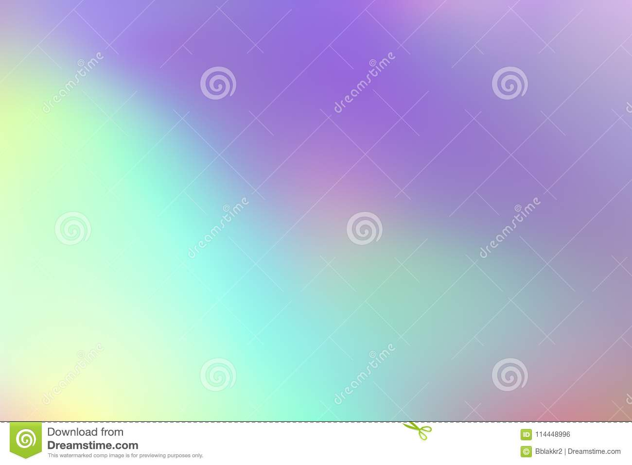 Blurry abstract pastel holographic foil background