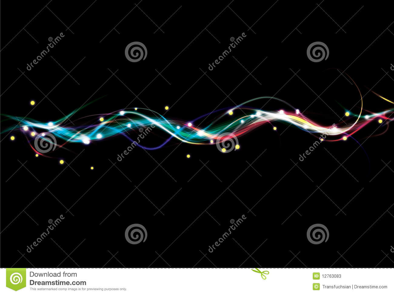 Fancy Club Light Effects In A Dark Background Stock: Blurry Colorful Light Effect Wave Background Stock Photos