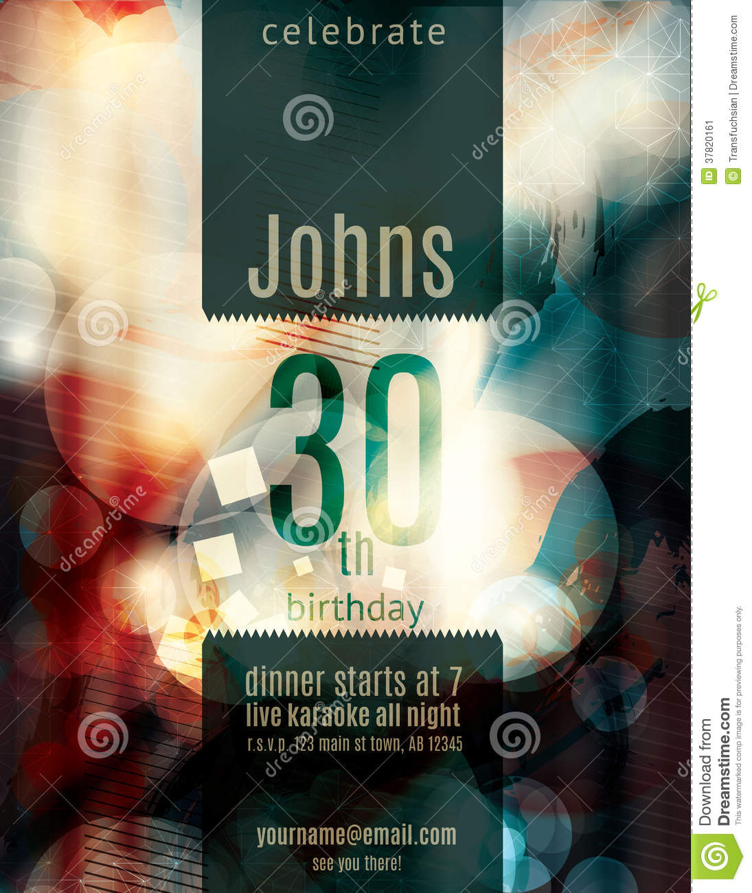 invitation flyer info blurry grunge abstract party invitation flyer stock image image