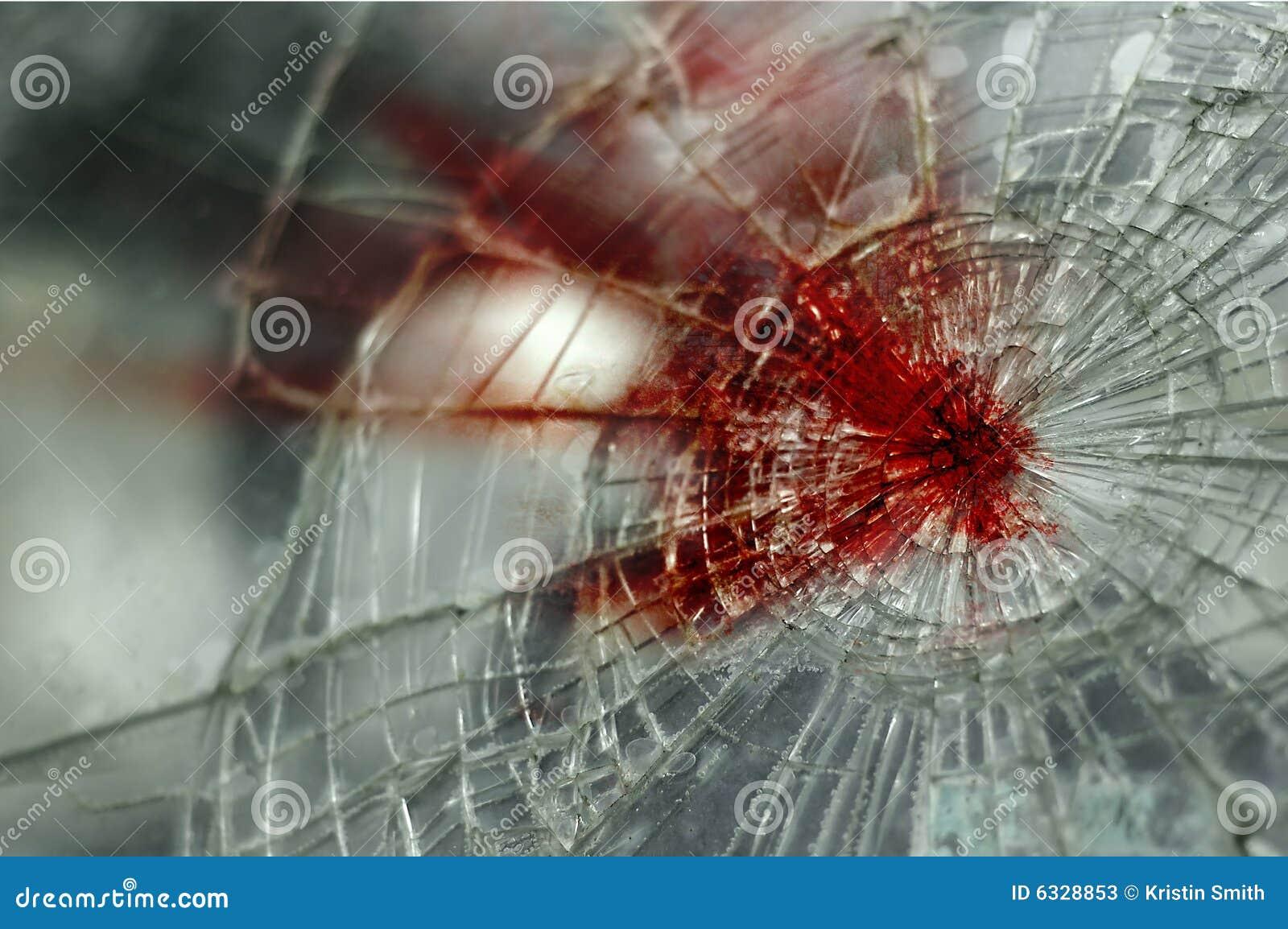 Blutige Frontscheibe