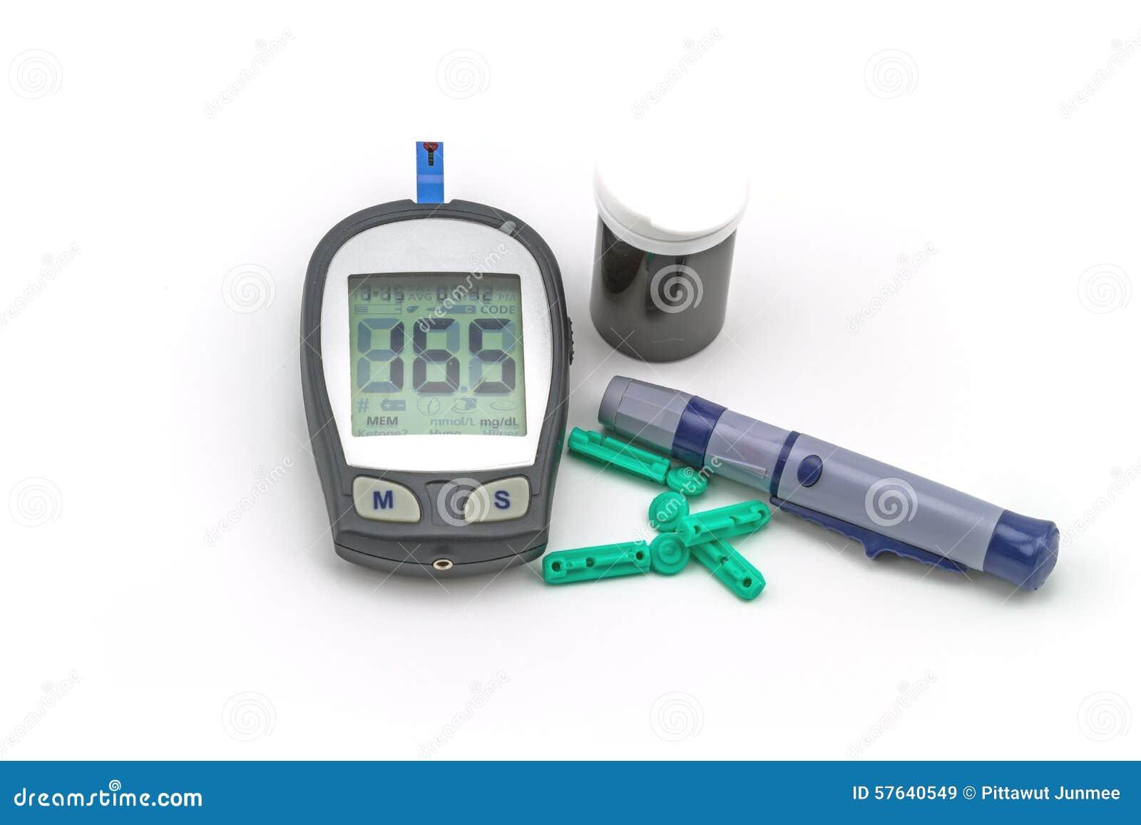 Blutzuckermeter-Testausrüstung, der Blutzuckerwert wird gemessen