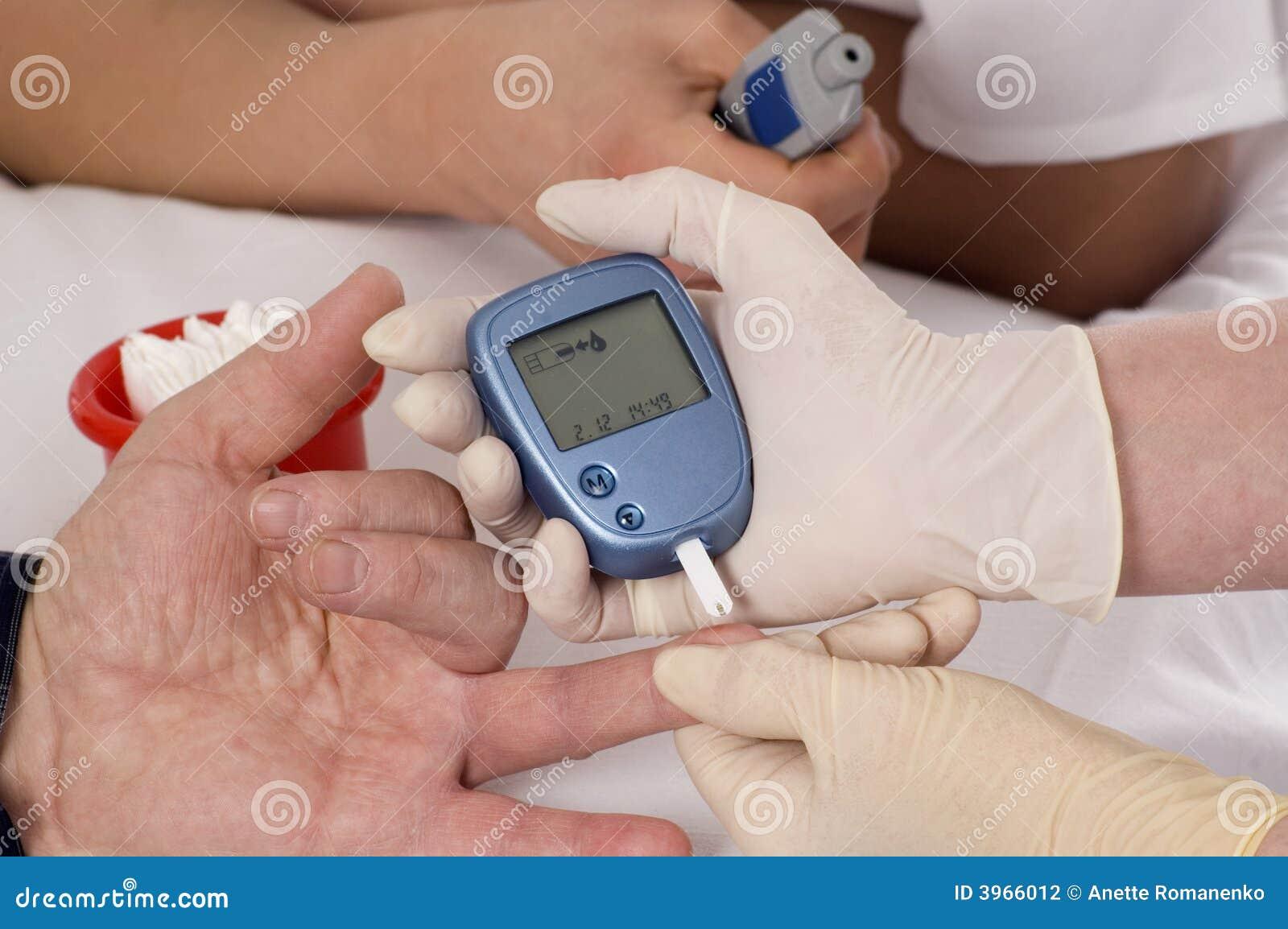 Blutzuckerprüfung.