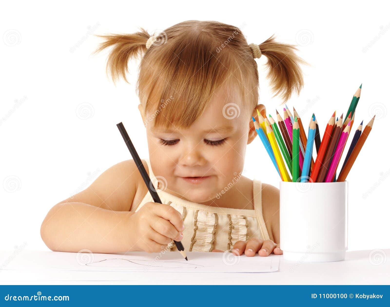 Blyertspennor för draw för barnfärg gulliga