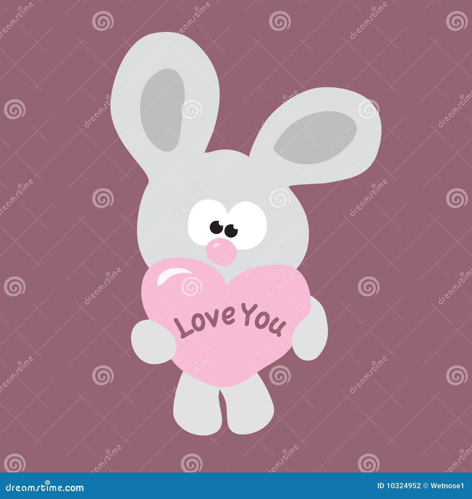 Blyg valentin för kanin