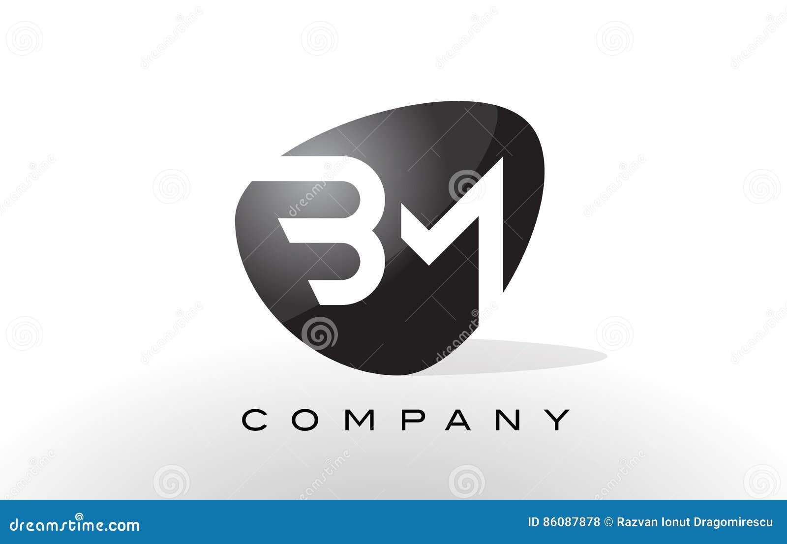 bm logo letter design vector stock vector illustration of design