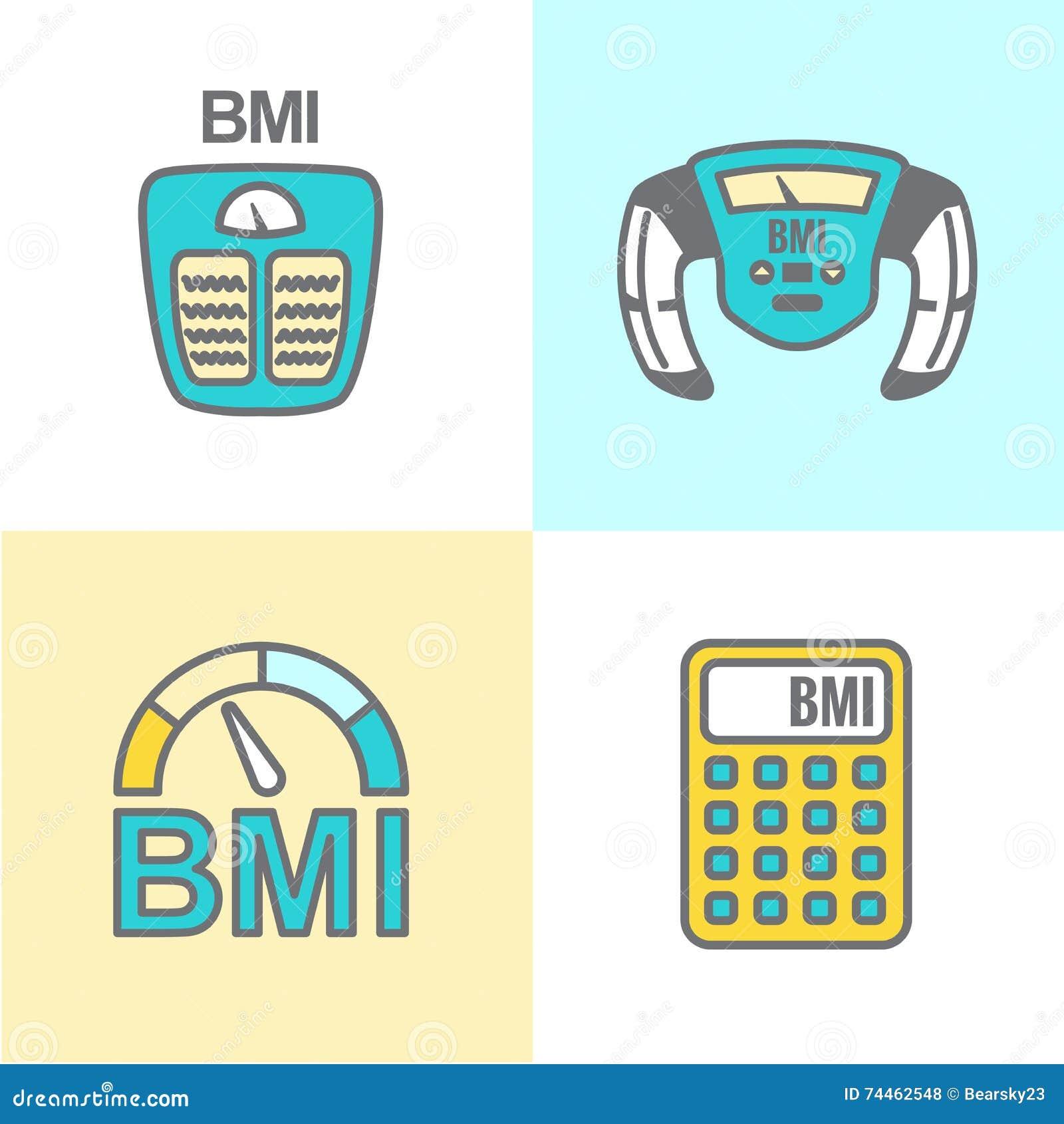 BMI lub ciała msza wskaźnika ikony