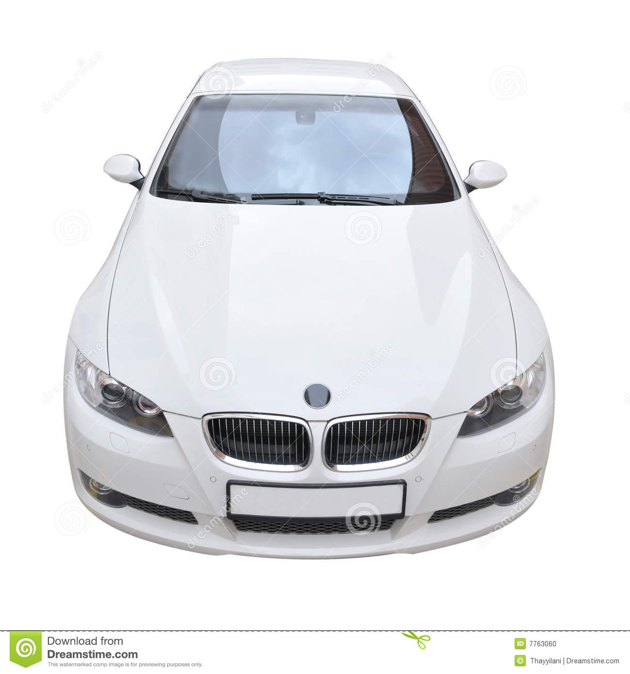 Bmwcarimage: BMW 335i White Convertible Car Stock Illustration
