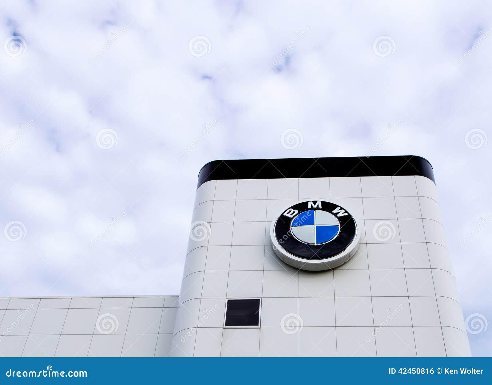 BMW-Automobil-Verkaufsstelle-Äußeres