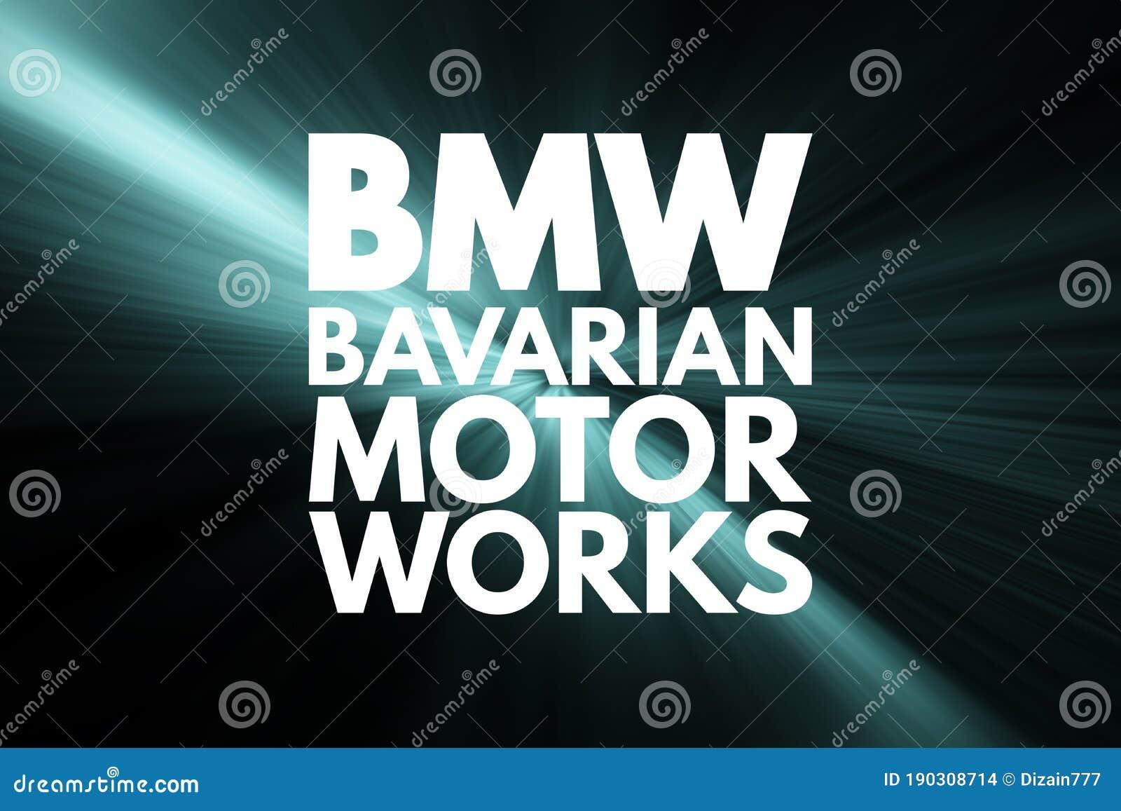 Bmw Bavarian Motor Works Acronym Concept Background Stock Illustration Illustration Of Abbreviation Deutschland 190308714