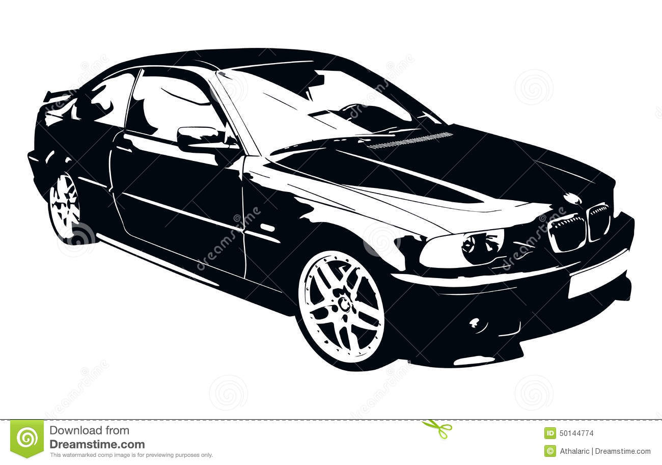 Bmw Black And White Car Stock Vector Image Of Europe