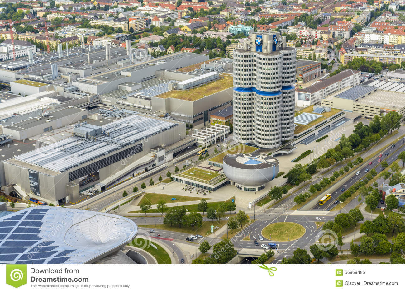 Bmw Museum Area In Munich Germany Editorial Image Image