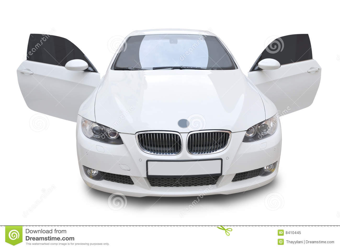 Bmw Car 335i Convertible Doors Open Royalty Free Stock