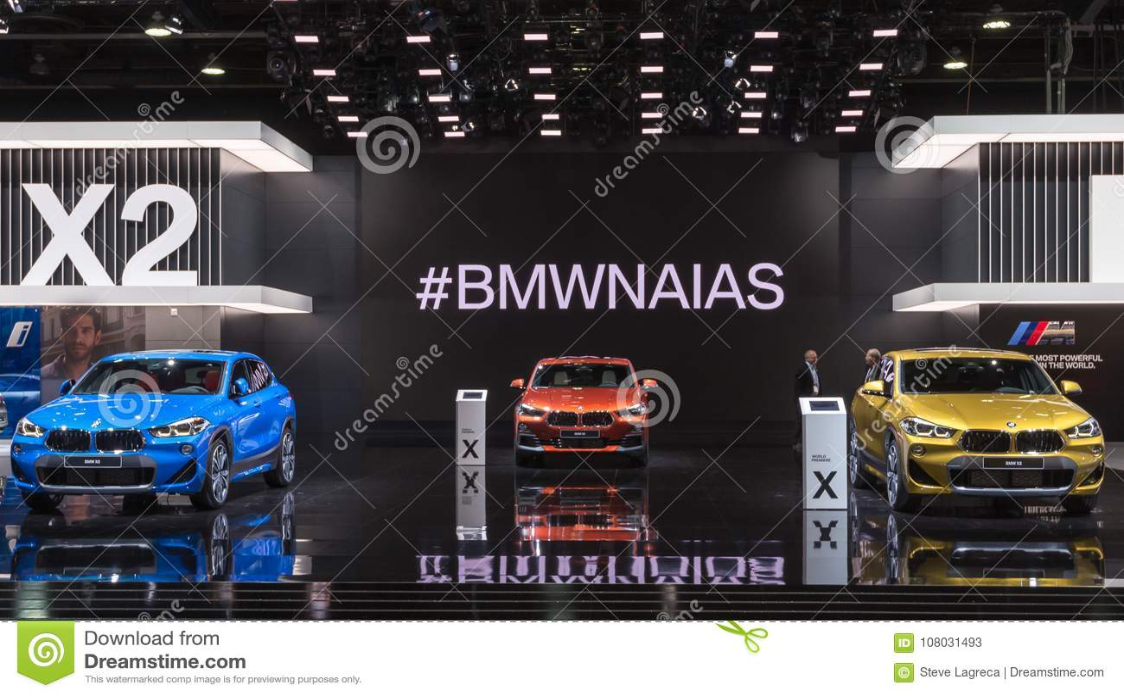 Bmw X2 Car Exhibit Naias Editorial Stock Photo Image Of Compact