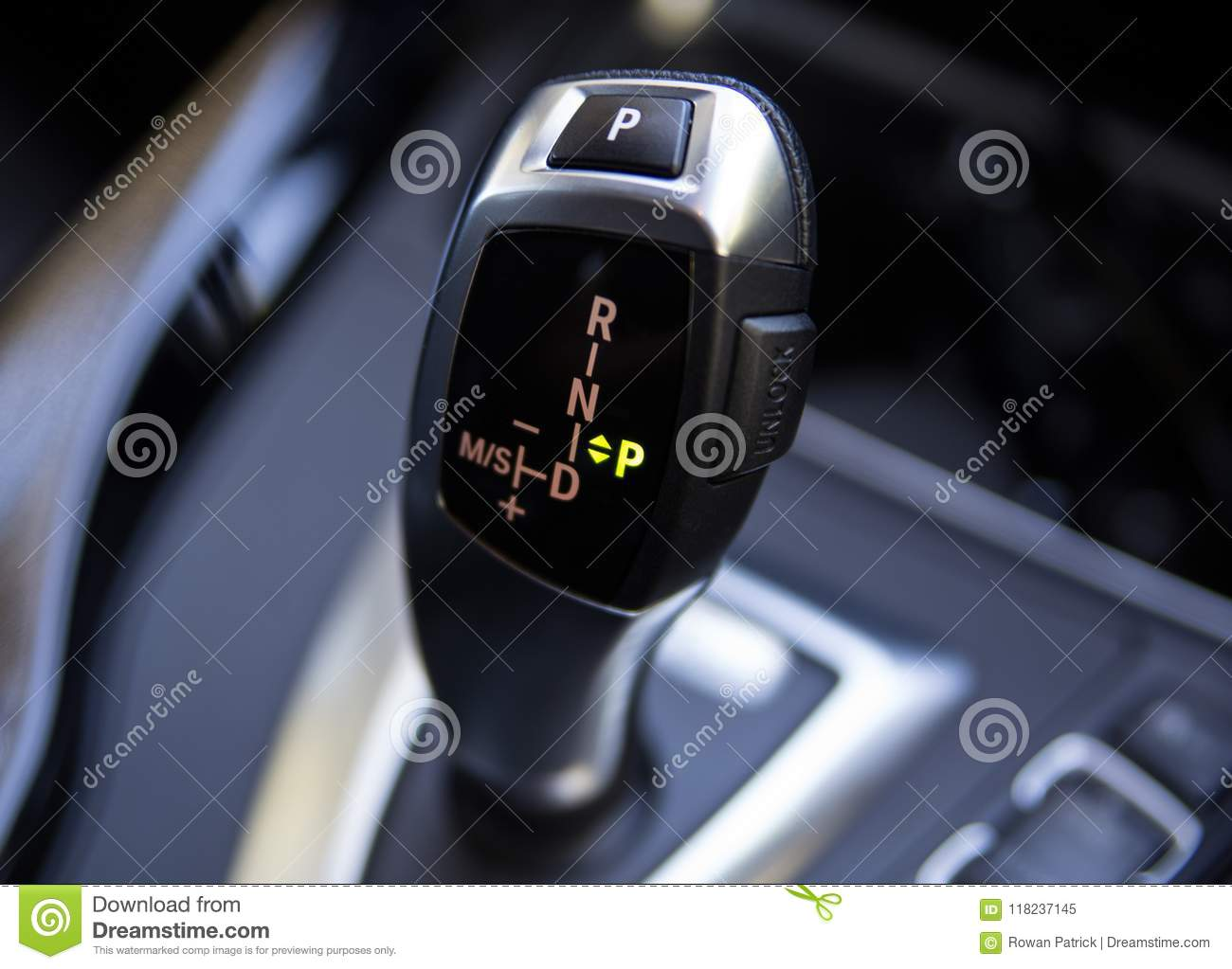 Bmw Car Gear Shift Stick Automatic Editorial Image - Image of gear