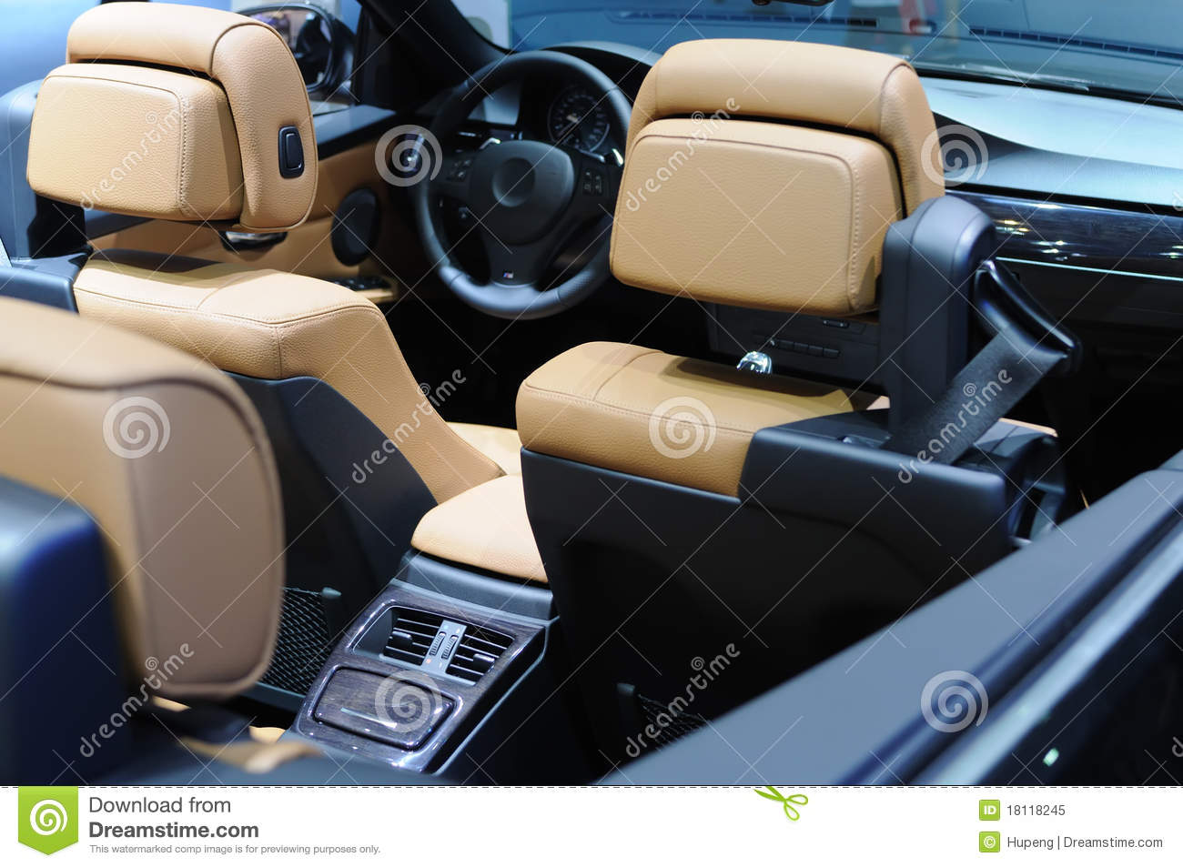 Bmw Car Interior Stock Image Of Gauge Chairs