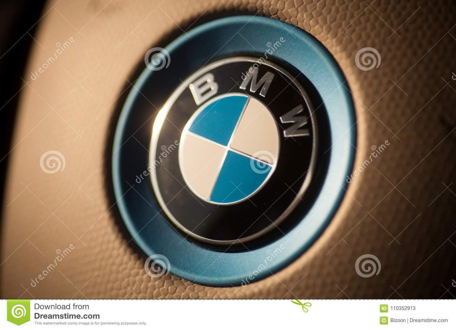 BMW car logo detail editorial stock photo. Image of modern ... - photo#17