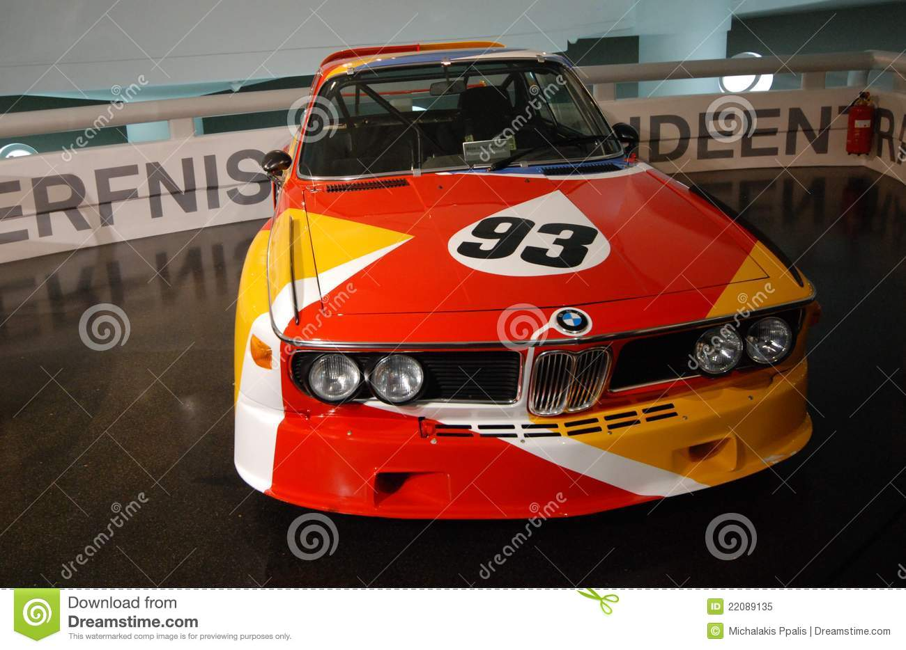 BMW classic sport car on display on BMW main exhibition center on