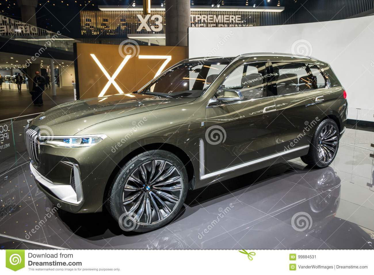 Bmw Concept X7 Iperformance Suv Car Editorial Photo Image Of