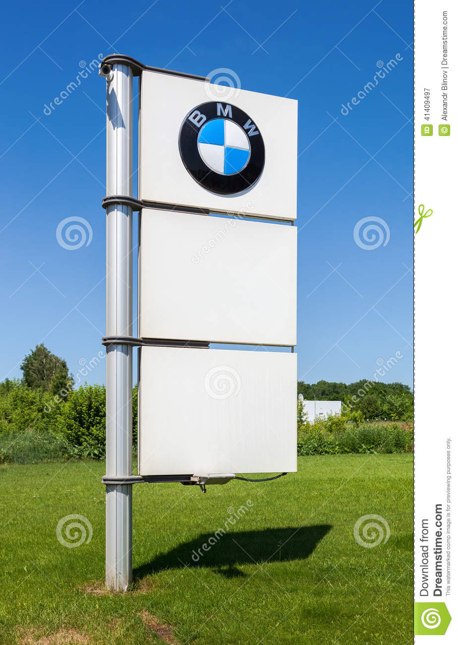 BMW Dealership Sign Against Blue Sky Editorial Photography Image - Bmw signs for sale