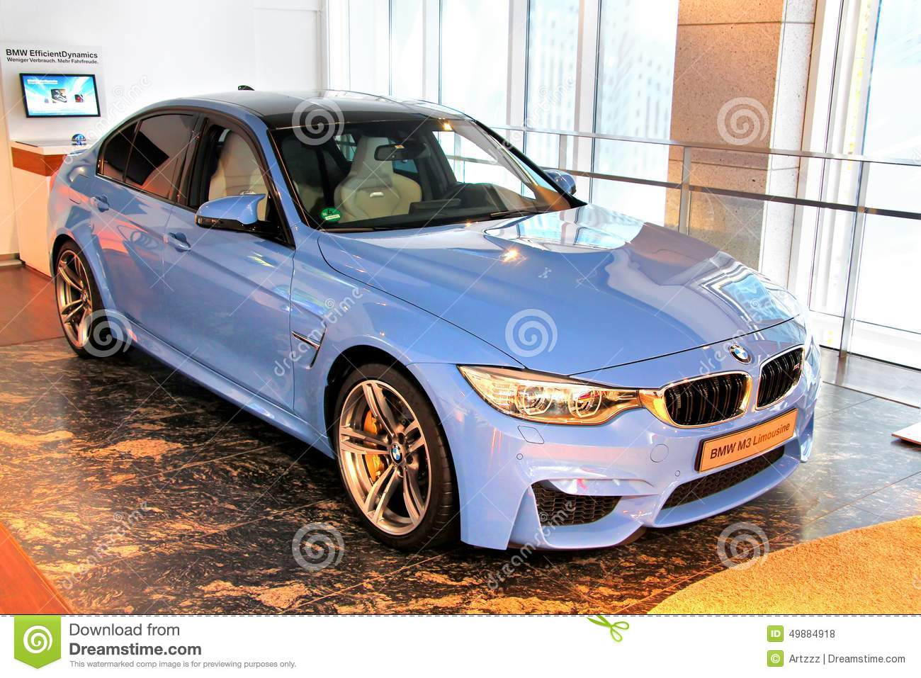 Bmw F80 M3 Editorial Stock Photo Image Of Show Cyan 49884918