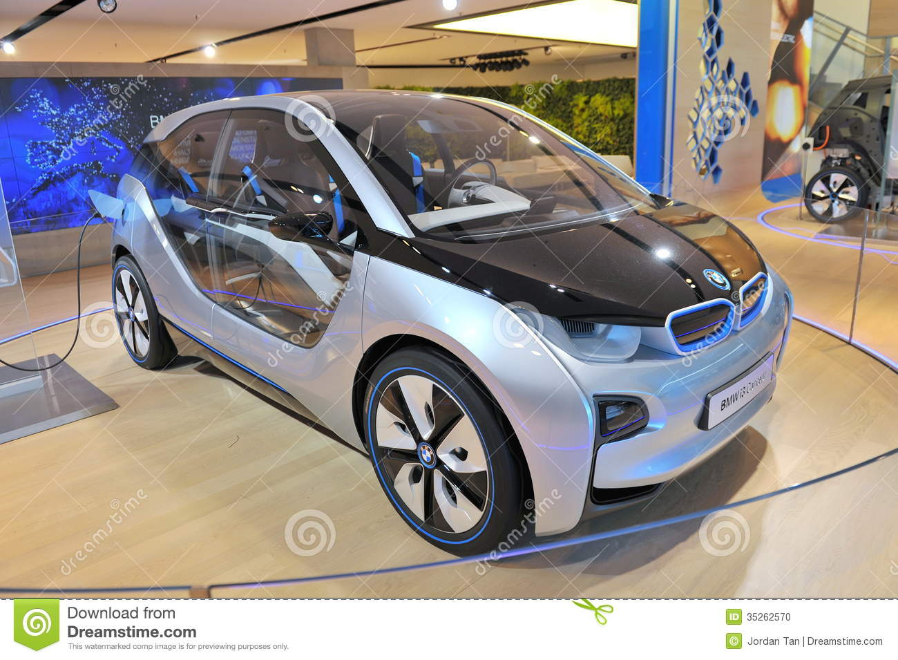Bmw I3 Concept Car On Display In Bmw Welt Editorial Image Image Of