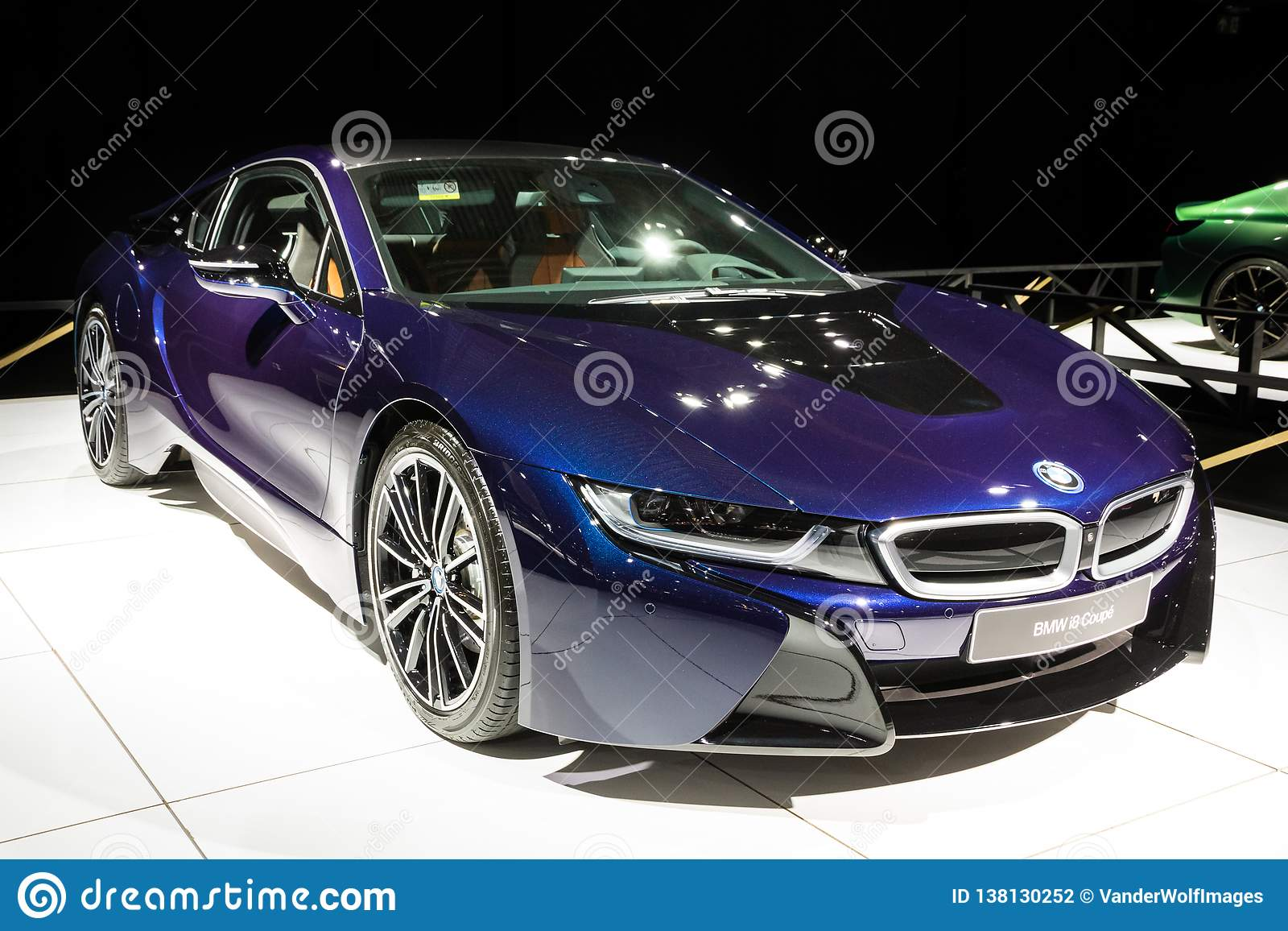 Bmw I8 Coupe Electric Sports Car Editorial Photography Image Of Expo Auto 138130252