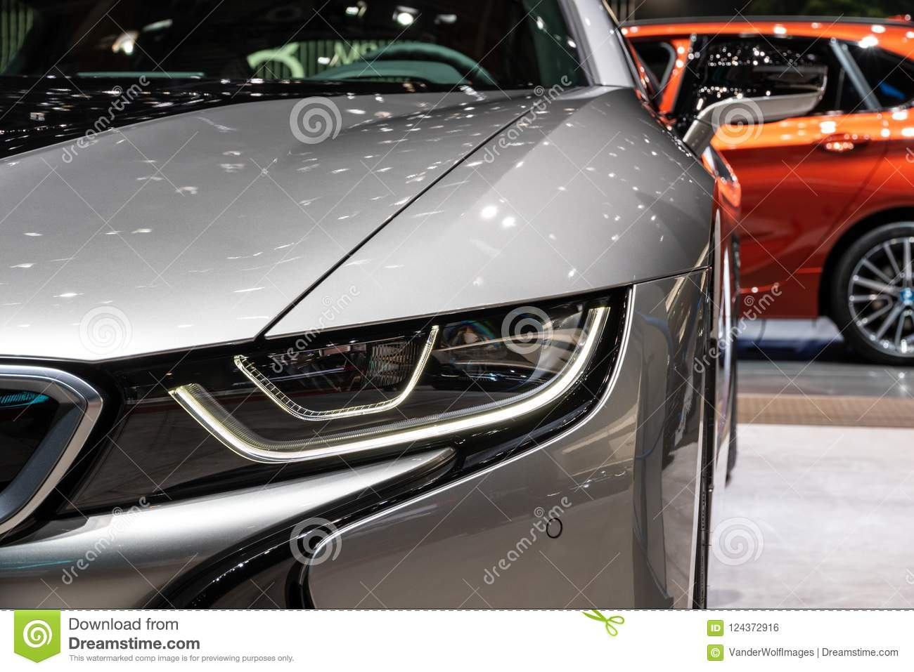 Bmw I8 Coupe Electric Sports Car Editorial Photo Image Of Design