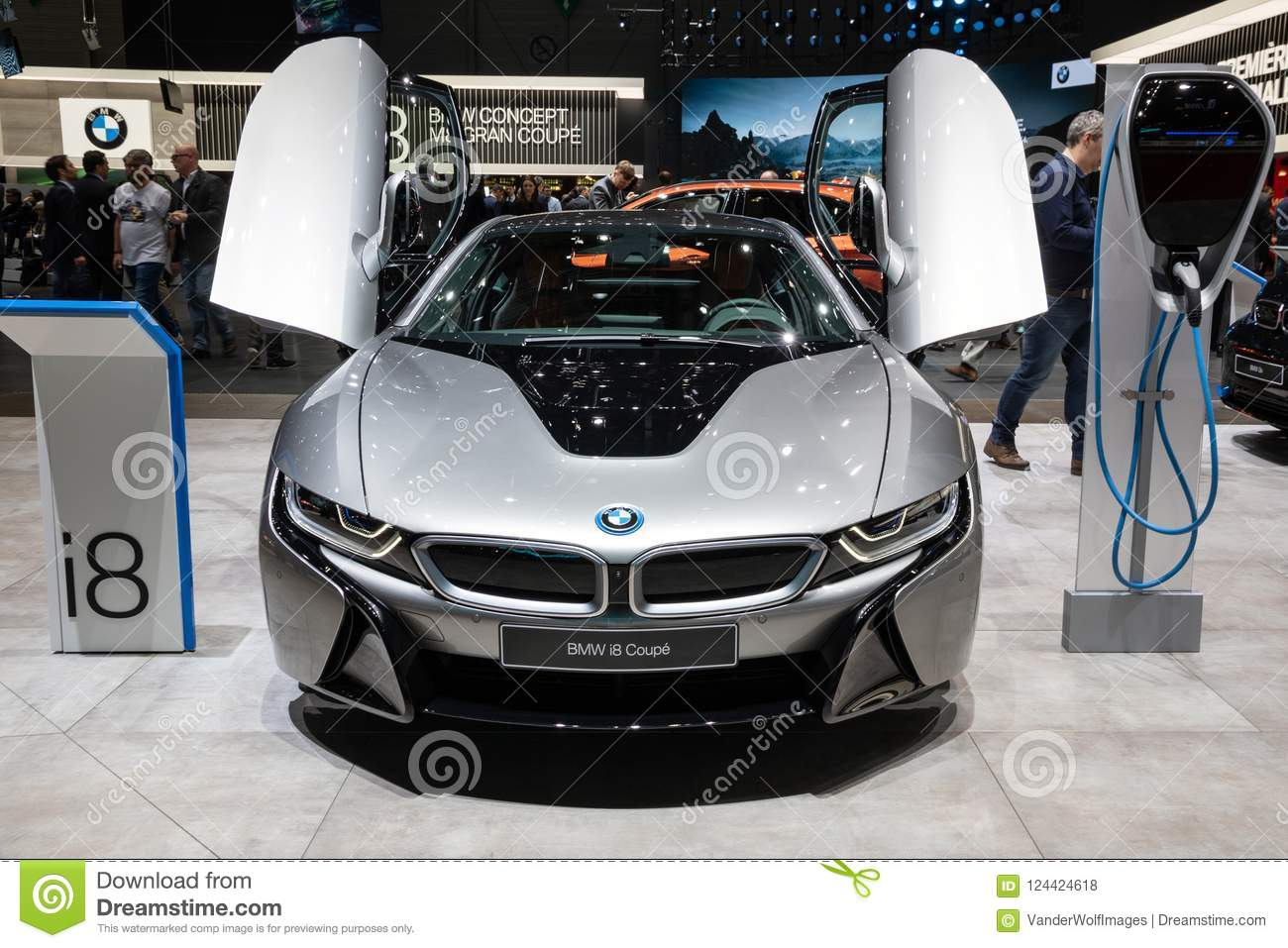 Bmw I8 Coupe Electric Sports Car Editorial Stock Photo Image Of