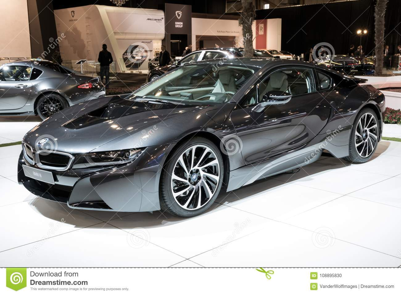 Bmw I8 Electric Sports Car Editorial Image Image Of 2018 108895830
