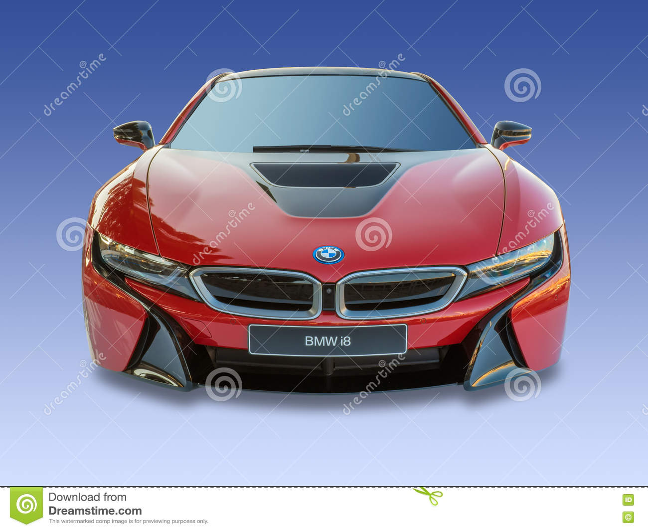 Bmw I8 Electric Turbo Motor Car Isolated Editorial Photography