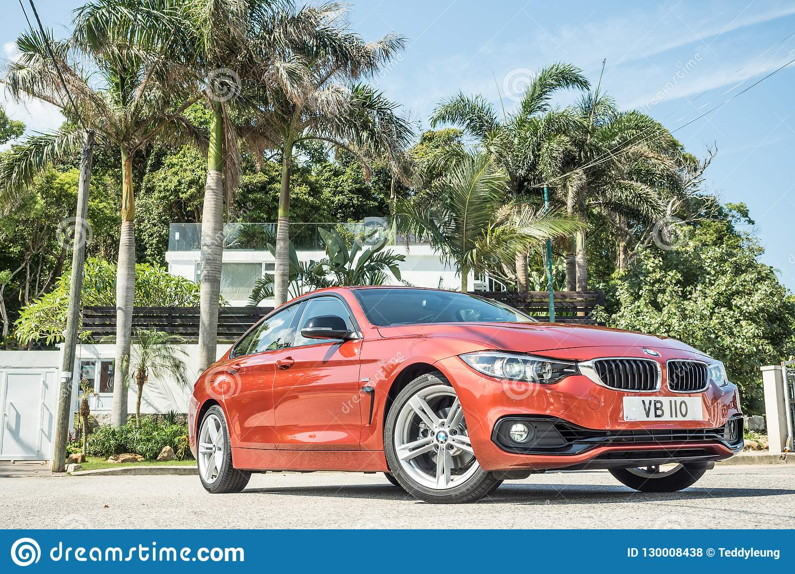 Bmw 420i Gran Coupe 2018 Test Drive Day Editorial Stock Photo