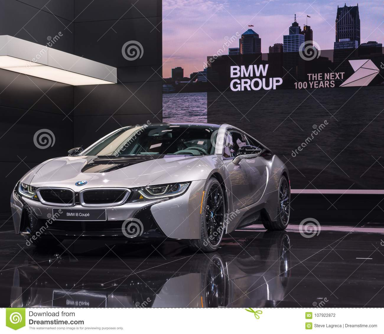 2018 Bmw I8 Naias Editorial Photography Image Of Detroit 107922872