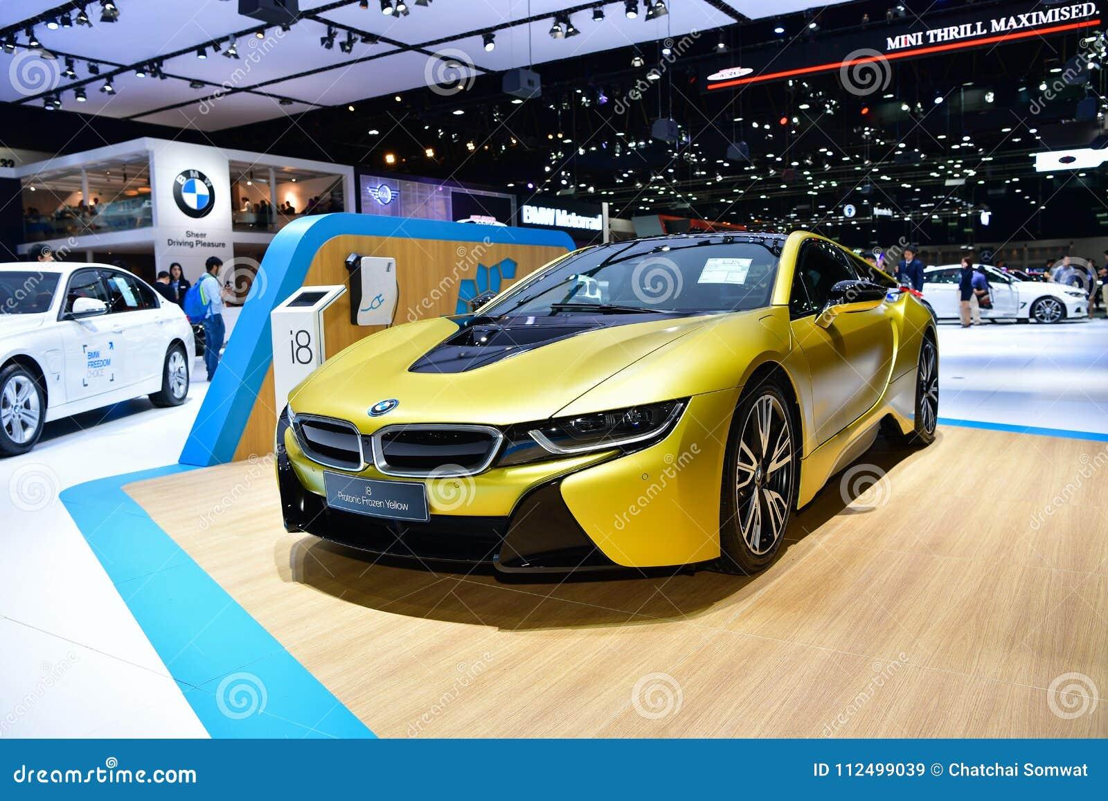 Bmw I8 Protonic Frozen Yellow Car At Thailand International Motor