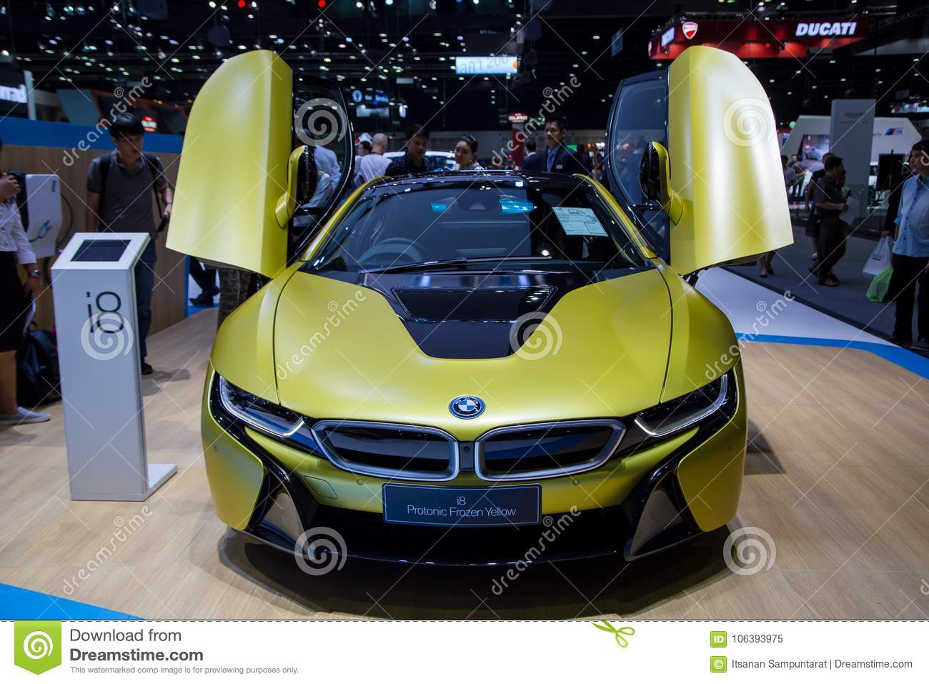 Bmw I8 Protonic Frozen Yellow Edition Editorial Image Image Of
