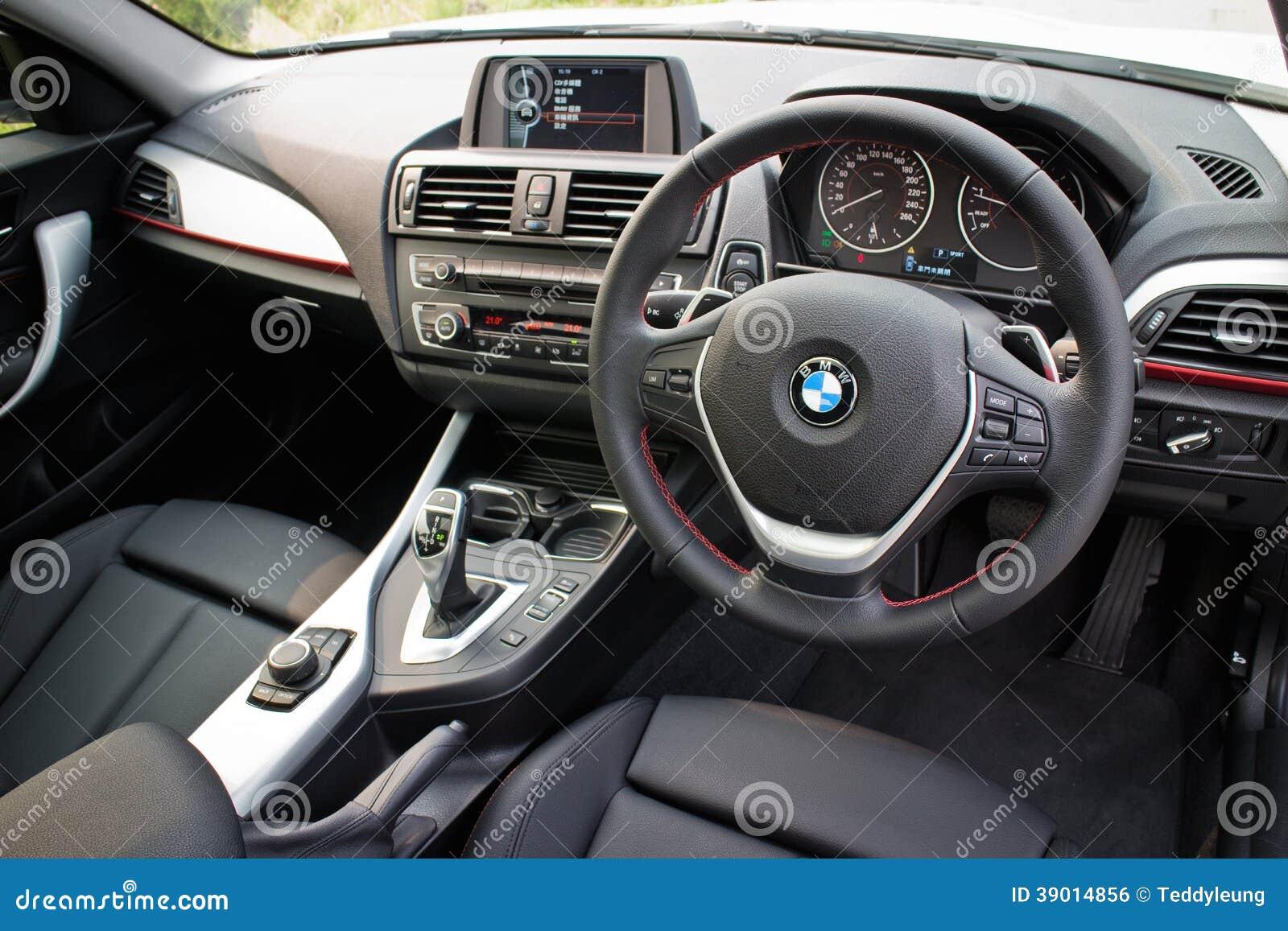 BMW 220i 2014 Sedan Interior Editorial Photo