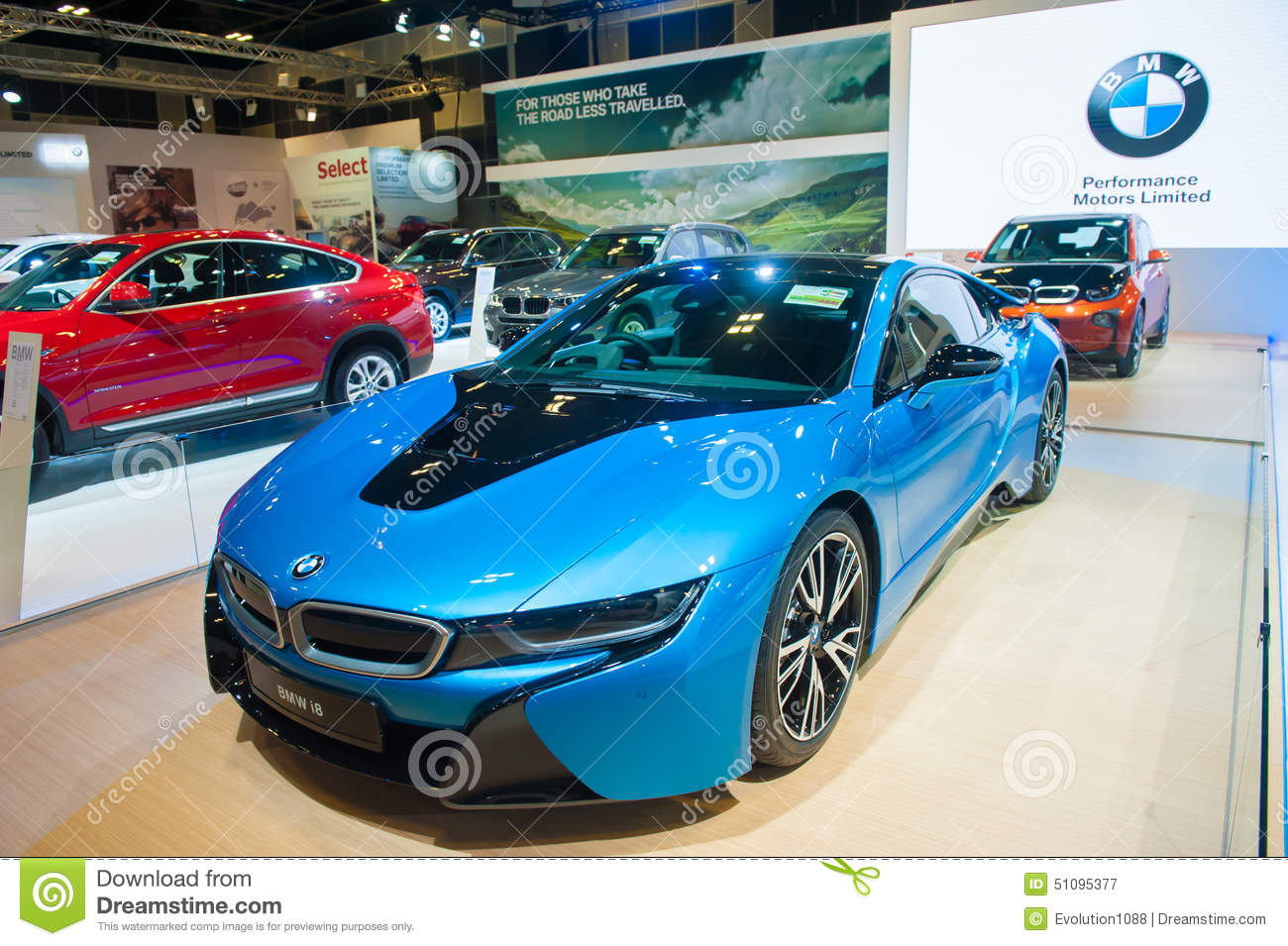 Bmw I8 At The Singapore Motorshow 2015 Editorial Photography Image