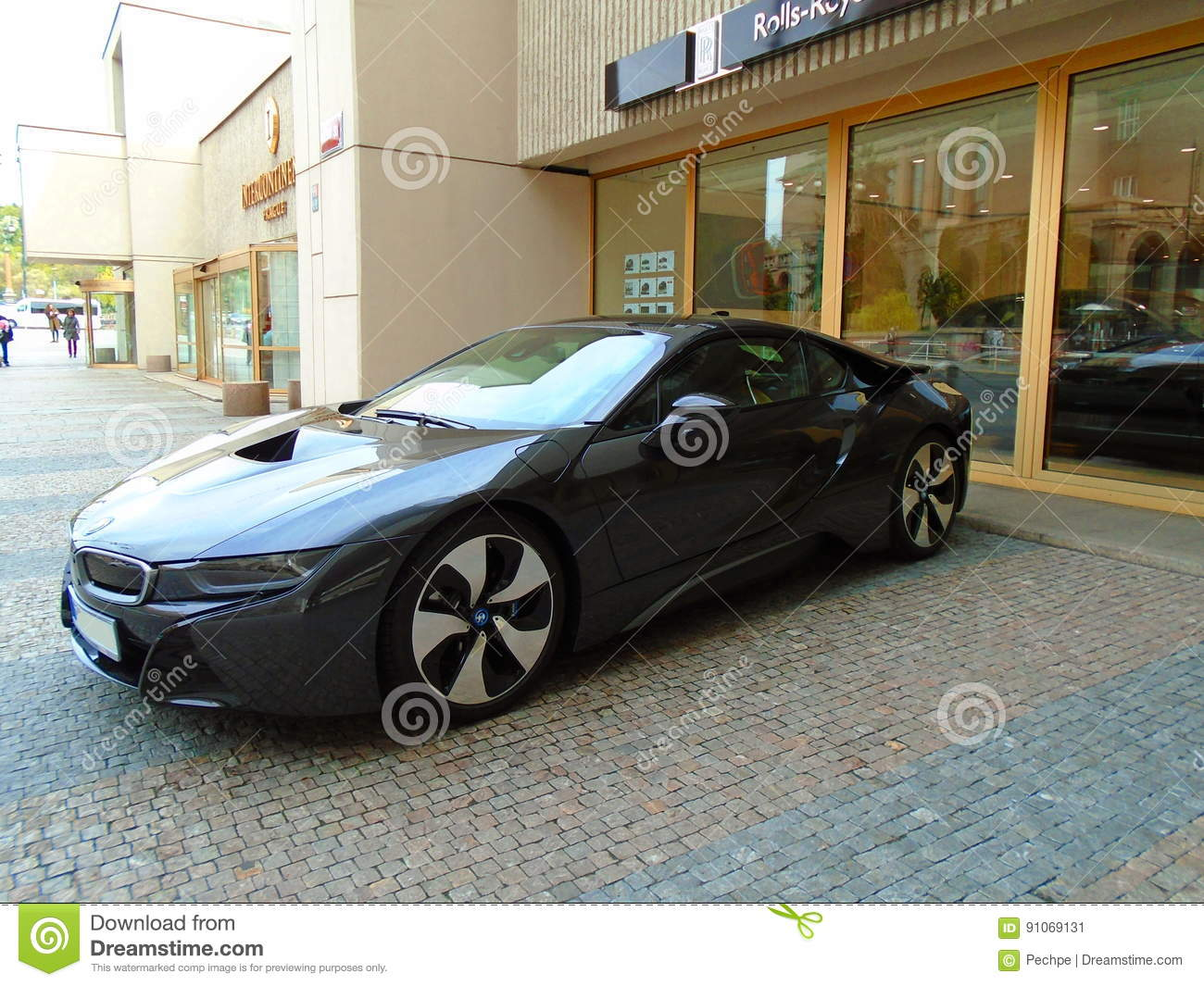 Bmw I8 On The Street Editorial Photo Image Of Expensive 91069131