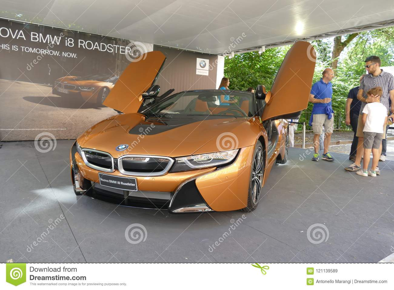 Bmw I8 Supercar Turin Italy June 6 2018 Editorial Stock Image