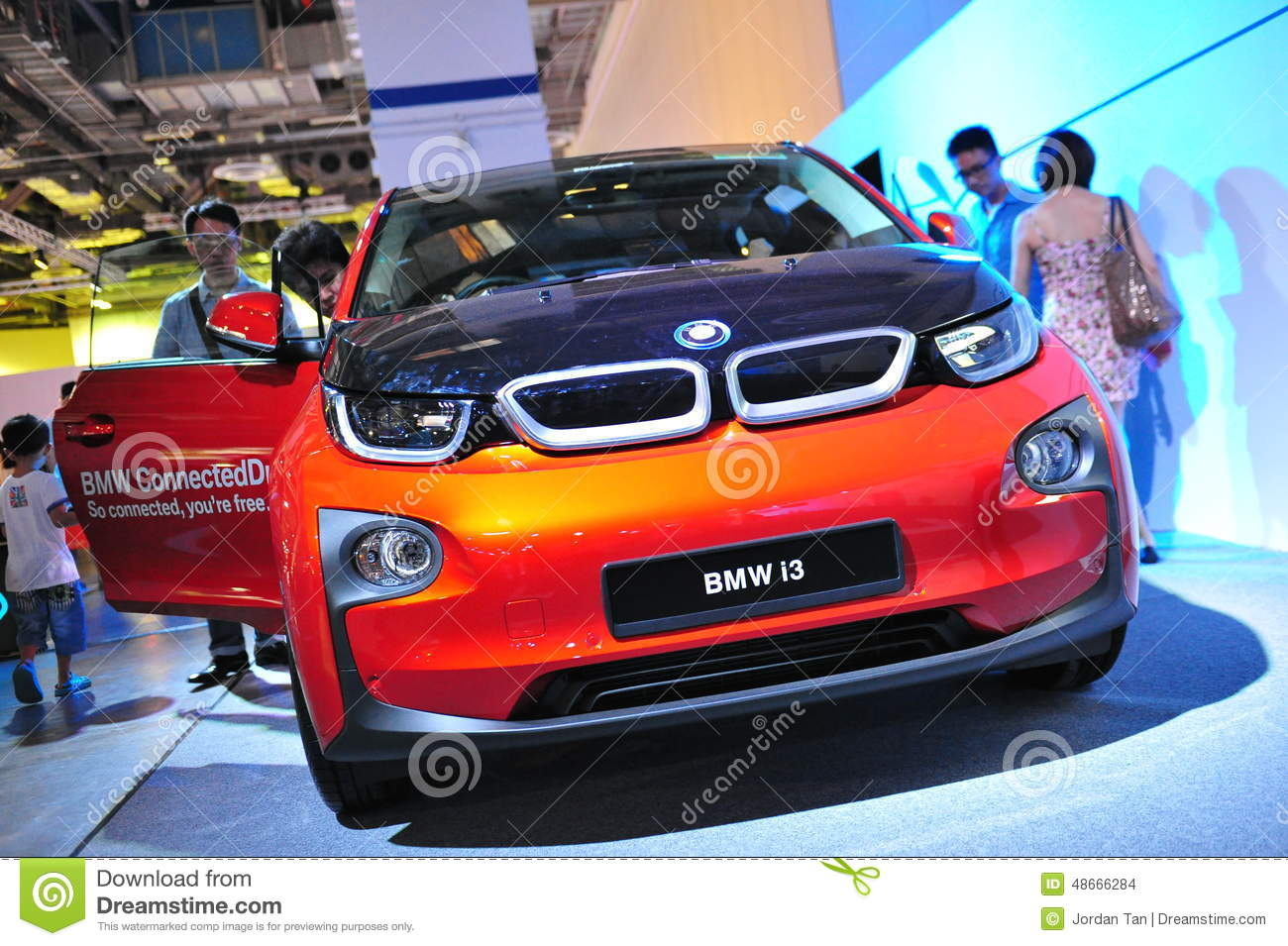 Bmw I3 Urban Electric Car On Display At Bmw World 2014 Editorial