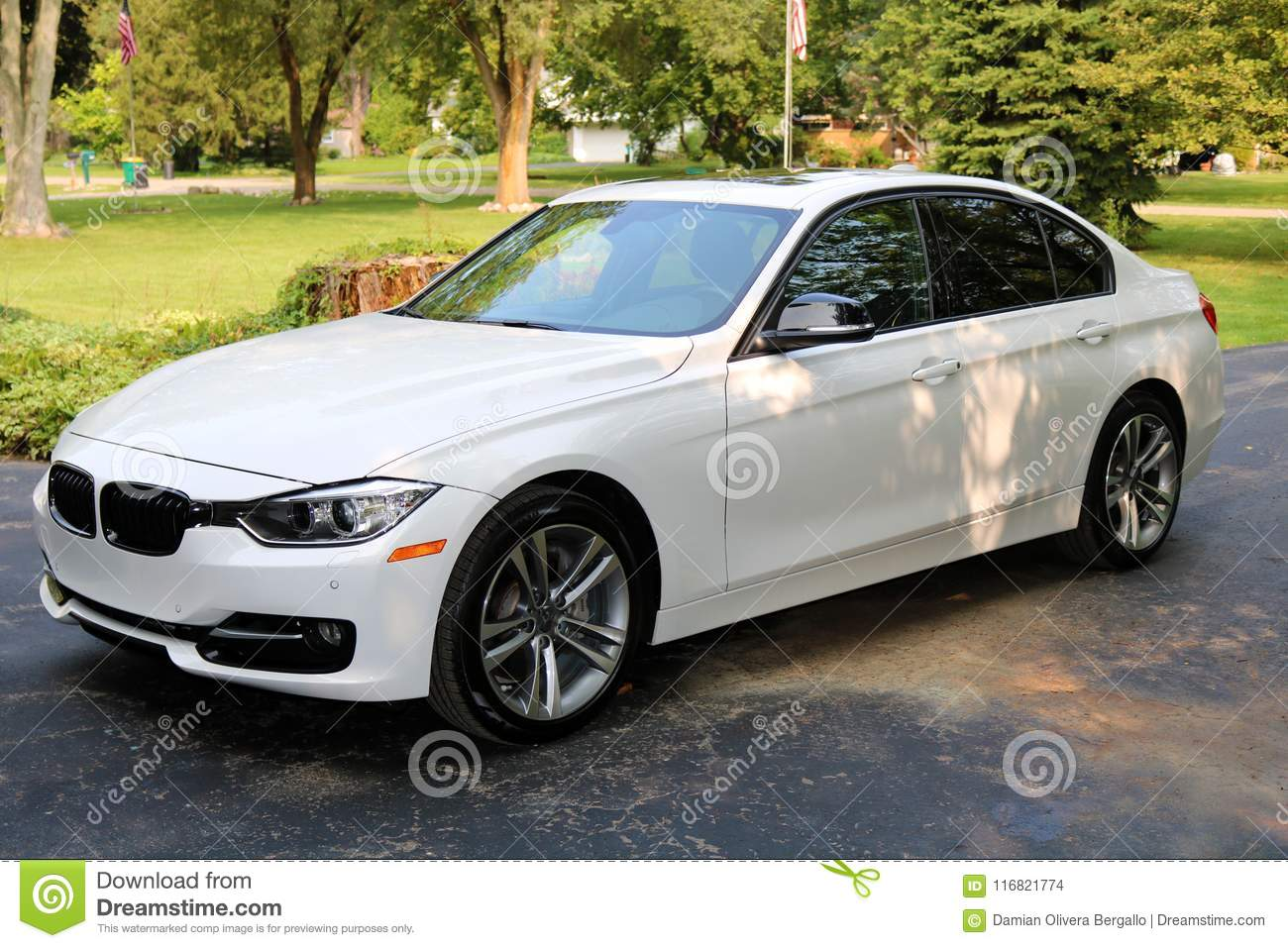2018 Bmw 350i White Super Charge With 350 Horse Power Luxury