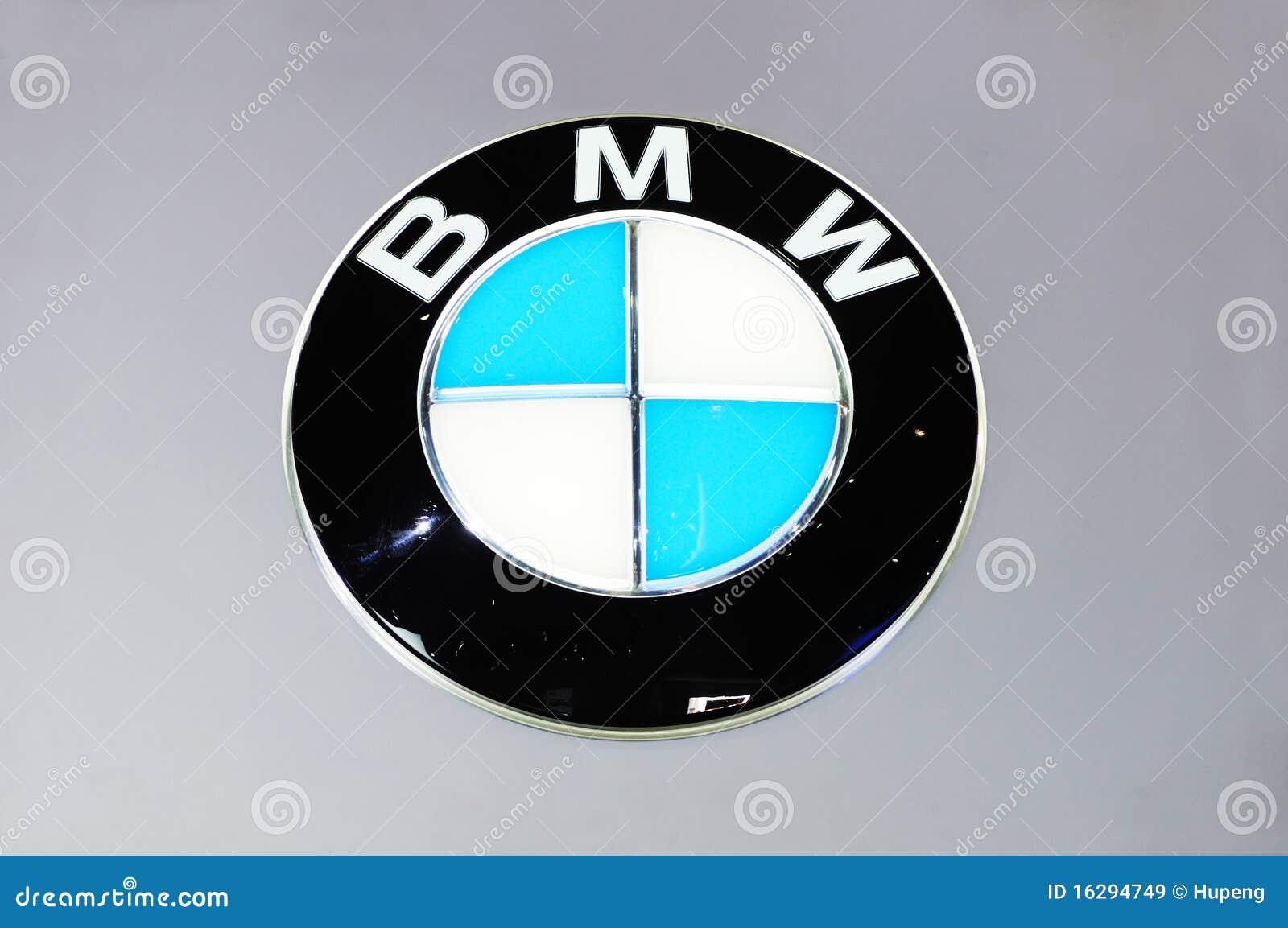 bmw logo editorial stock image
