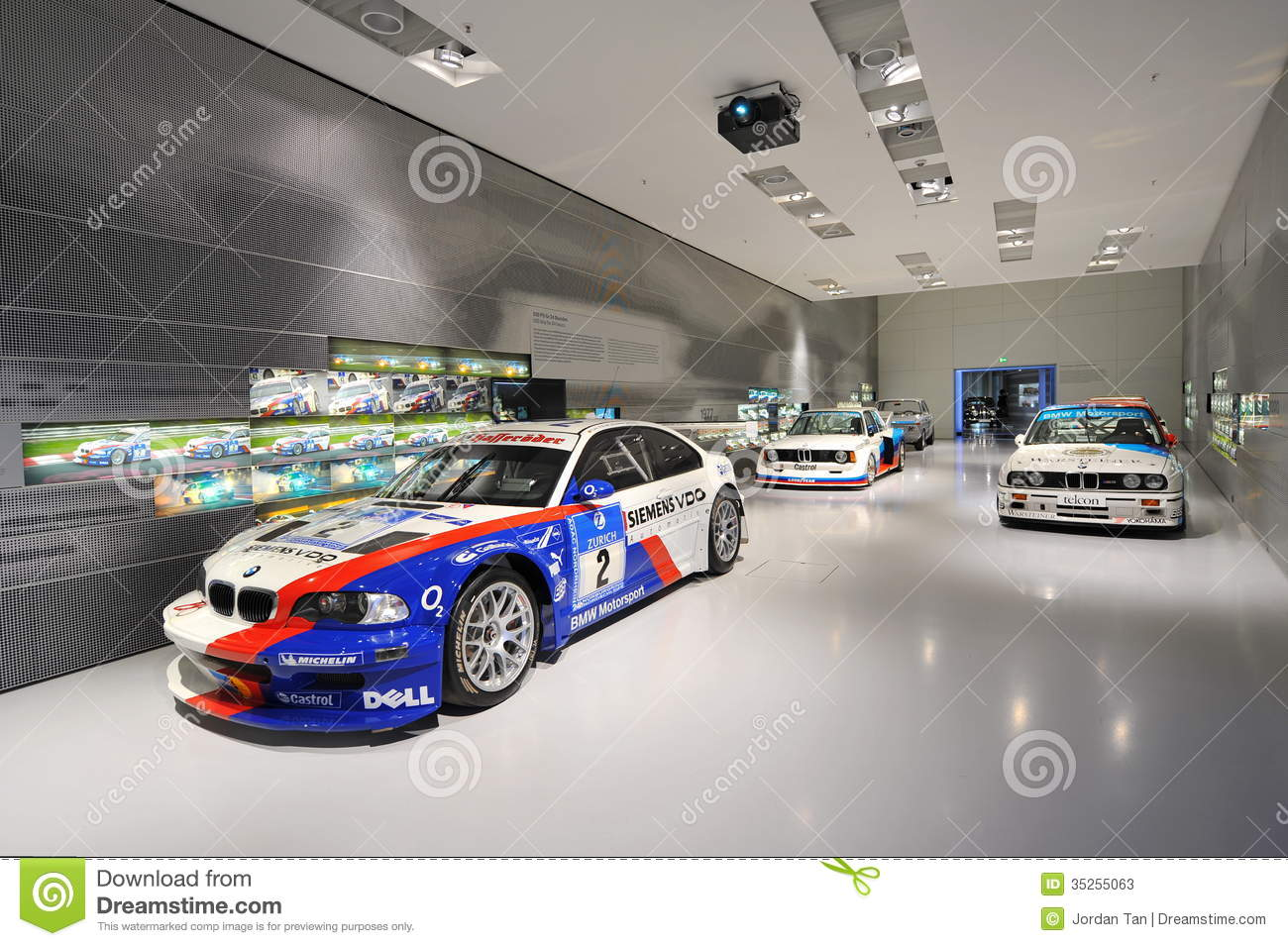 bmw m competition cars in the touring car hall of bmw museum editorial stock photo image 35255063. Black Bedroom Furniture Sets. Home Design Ideas