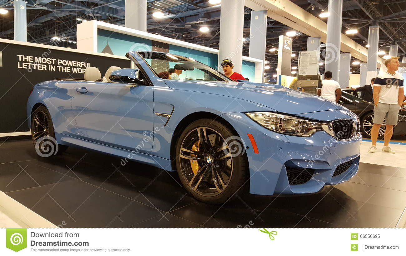Bmw M4 Convertible Editorial Image Image Of Blue Popular