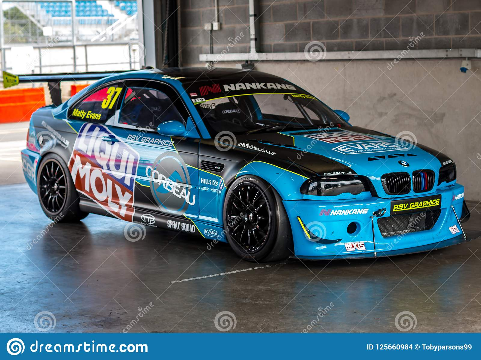 Bmw M3 E46 Racing Car Editorial Stock Image Image Of Automobile