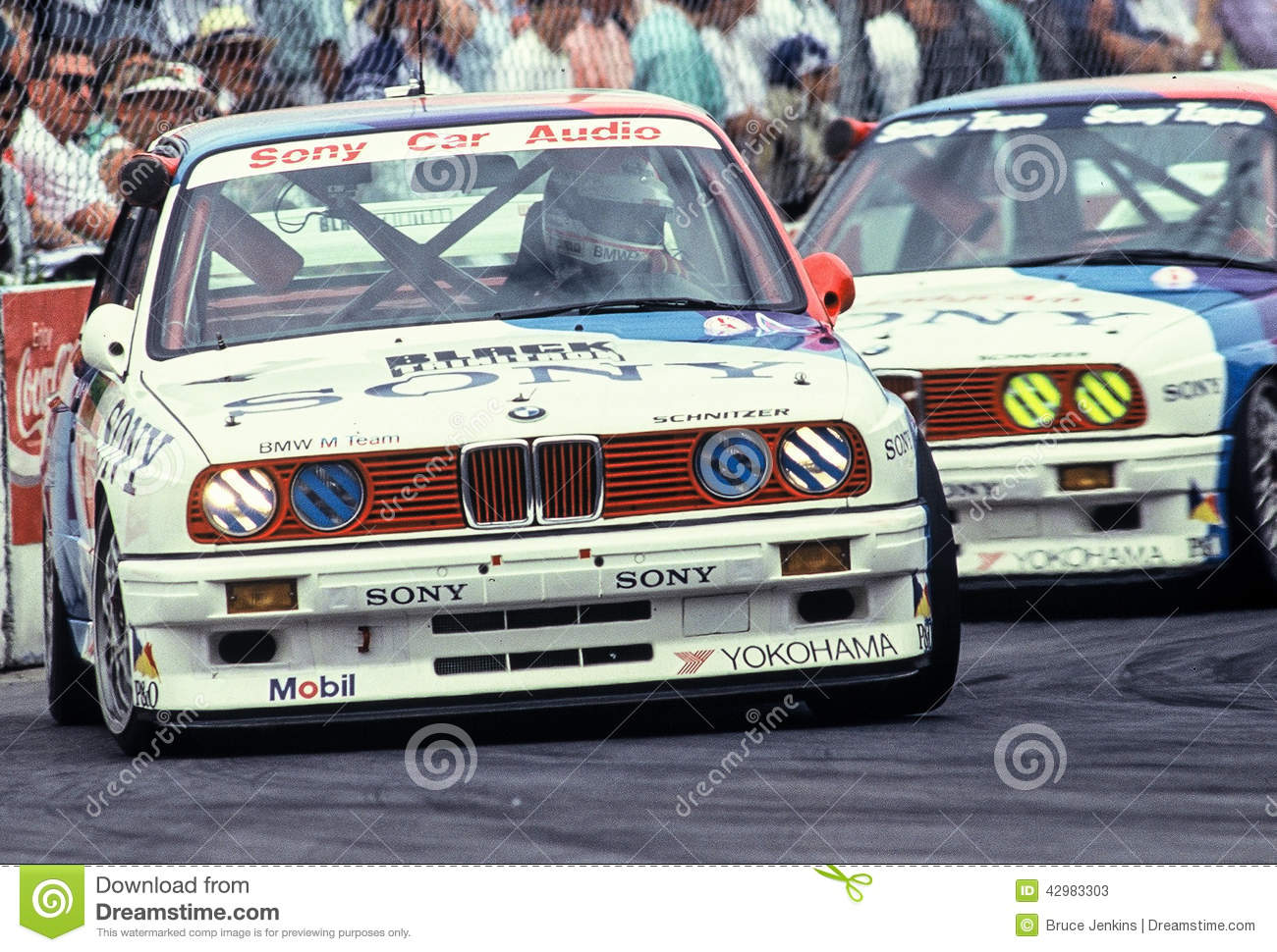 2 Factory Works BMW M3 E30 Race Cars Compete At The Wellington Street Nissan Mobil 500 In New Zealand