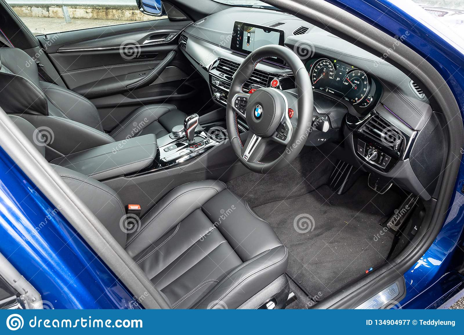 Bmw M5 2018 Interior Editorial Photography Image Of Series 134904977