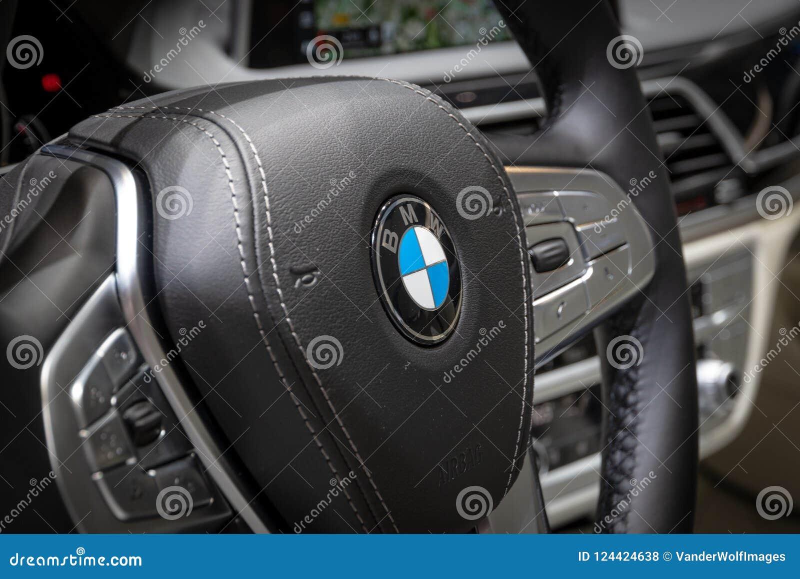 BMW 7-series Car Steering Wheel Editorial Stock Photo ... - photo#26