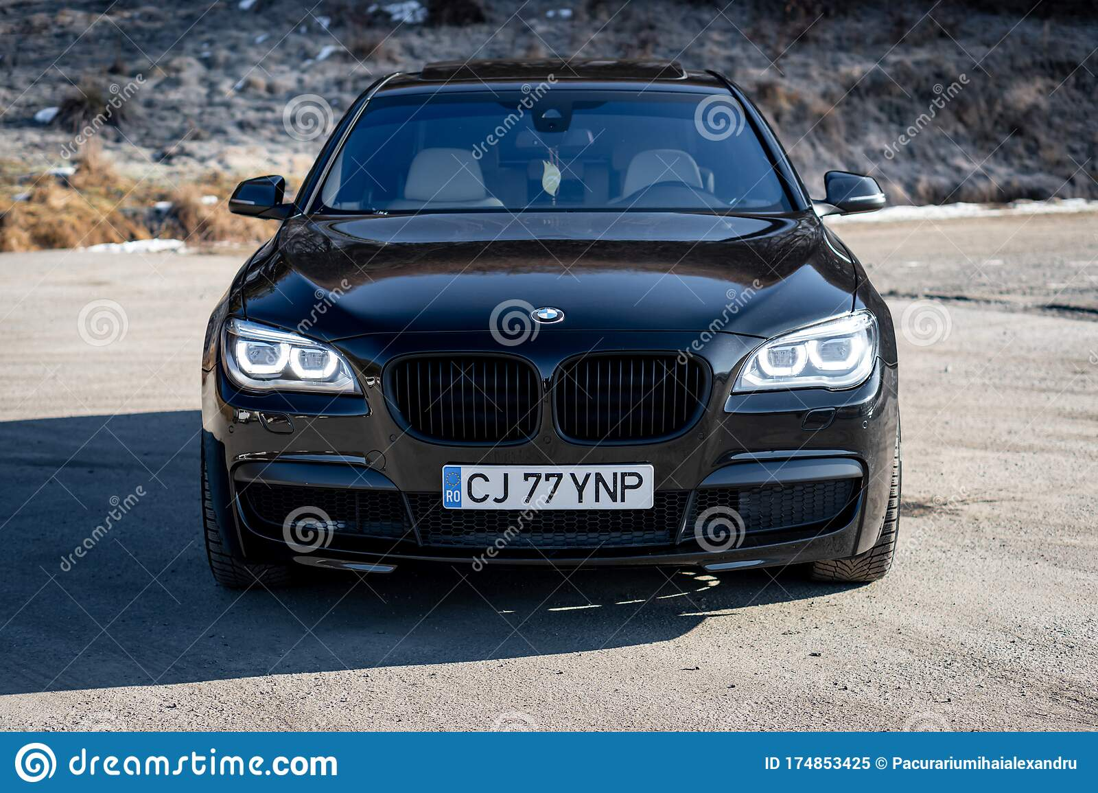 Bmw 7 Series Matte Black M Trim Sport Edition Editorial Image Image Of Automatic Editorial 174853425